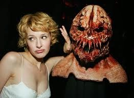 Jenny Wade (Honey Pie) and a creature mask