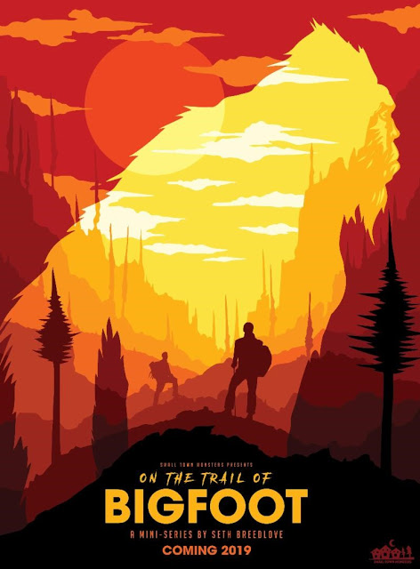 On the trail of bigfoot poster