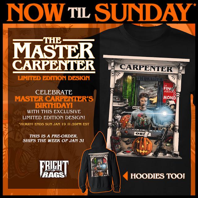 John Carpenter Fright rags Merchandise image