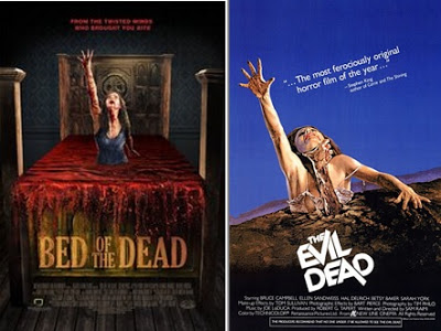 bed of the dead and evil dead posters